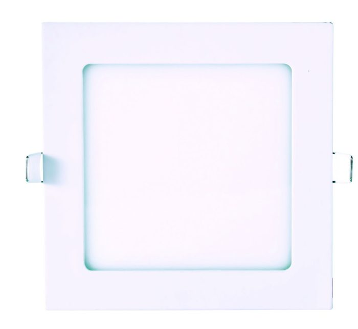 DOWNLIGHT LED 18W EMPOTRABLE CUADRADO EXTRAPLANO 225x225mm BLANCO CÁLIDO