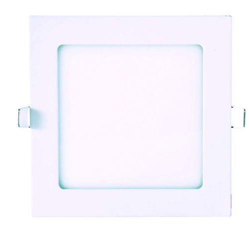 DOWNLIGHT LED 6W EMPOTRABLE CUADRADO EXTRAPLANO 120x120mm BLANCO CÁLIDO